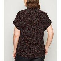 Curves Black Spot Short Sleeve Shirt New Look
