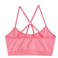 Girls Bright Pink Strappy Seamless Sports Bra New Look