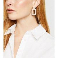 Cream Faux Pearl Door Knocker Earrings New Look