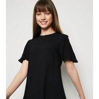 Girls Black Tiered Mini Dress New Look