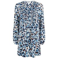 JDY Blue Leopard Print Tunic Dress New Look