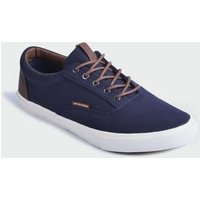 Jack & Jones Navy Lace Up Canvas Trainers New Look