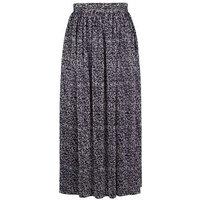 Mela Black Leopard Print Pleated Midi Skirt New Look