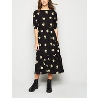 Black-Daisy-Floral-Puff-Sleeve-Tiered-Midi-Dress-New-Look