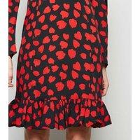 Influence Red Animal Print Puff Sleeve Dress New Look