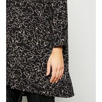 Noisy May Black Scribble Print Tunic Top New Look
