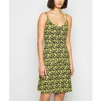 Noisy May Yellow Neon Brushstroke Slip Dress New Look