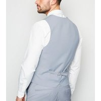 Pale Blue Waistcoat New Look