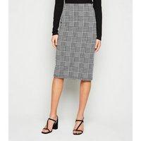 Black Check Midi Pencil Skirt New Look