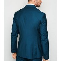 Bright Blue Skinny Suit Jacket New Look