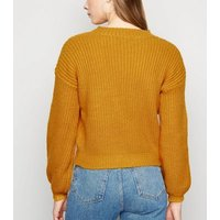 Sunshine Soul Mustard Chunky Knit Jumper New Look