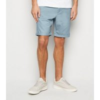 Men's Pale Blue Chino Cotton Shorts New Look