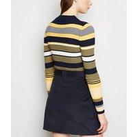 Sunshine Soul Navy Cord Mini Skirt New Look