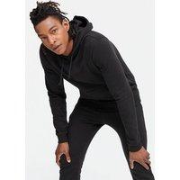 Black Cotton Blend Hoodie New Look