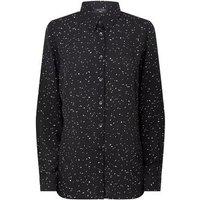 Petite Black Spot Long Sleeve Chiffon Shirt New Look
