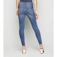 Petite Short Leg Blue Lift and Shape Jenna Skinny Jeans New Look