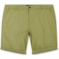 Plus Size Olive Chino Shorts New Look
