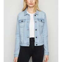 Noisy May Pale Blue Denim Jacket New Look