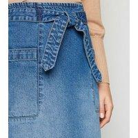 JDY Blue Denim Pencil Skirt New Look