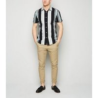 Pale Grey Stripe Short Sleeve Shirt New Look