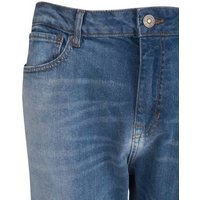 Blue Wash Spray On Skinny Jeans New Look