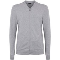 Grey Marl Jersey Muscle Fit Bomber Jacket New Look