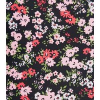 Pink Floral V Neck Swimsuit New Look