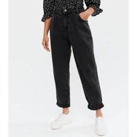 Petite Black Washed Slouch Nia Balloon Leg Jeans New Look