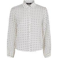 Petite White Daisy Organza Shirt New Look