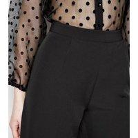 Tall Black Pleated Culottes New Look
