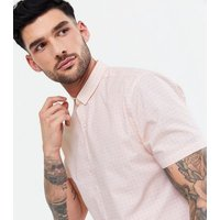 Pink Geometric Floral Short Sleeve Shirt New Look