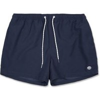 Navy Circle Embroidered Swim Shorts New Look