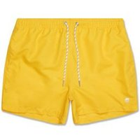 Yellow Circle Embroidered Swim Shorts New Look