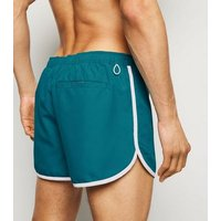 Teal Runner Swim Shorts New Look