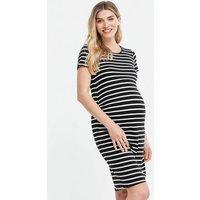 Maternity Black Stripe Jersey Dress New Look