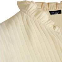 Maternity White Ribbed Tiered Smock Dress New Look