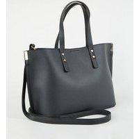 Black Leather-Look Tote Bag New Look Vegan