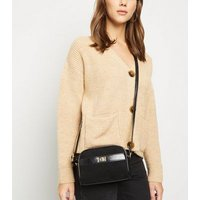 Black Suedette Mini Cross Body Bag New Look
