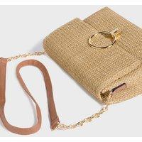 Stone Straw Effect Shoulder Bag New Look Vegan