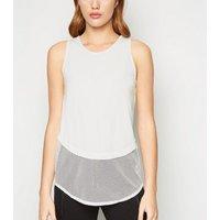 GymPro White Mesh Hem Sports Vest New Look