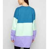 Noisy May Multicoloured Colour Block Oversized Jumper New Look