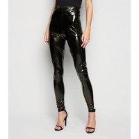 Parisian Black Wet Look Leggings New Look