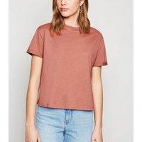 Rust Boxy Cotton T-Shirt New Look