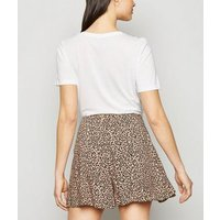 Brown Leopard Print Wide Leg Shorts New Look