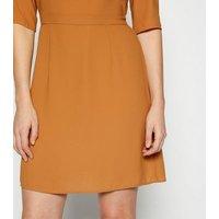 StylistPick Mustard Woven Dress New Look