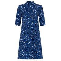 StylistPick Blue Animal Print High Neck Dress New Look