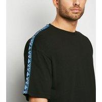 Black Aztec Tape Short Sleeve T-Shirt New Look