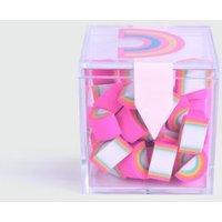 Multicoloured Mini Rainbow Erasers New Look