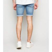 Pale Blue Skinny Denim Shorts New Look