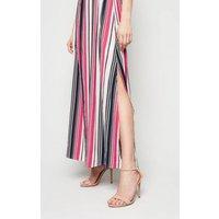 Mela White Stripe Halterneck Maxi Dress New Look